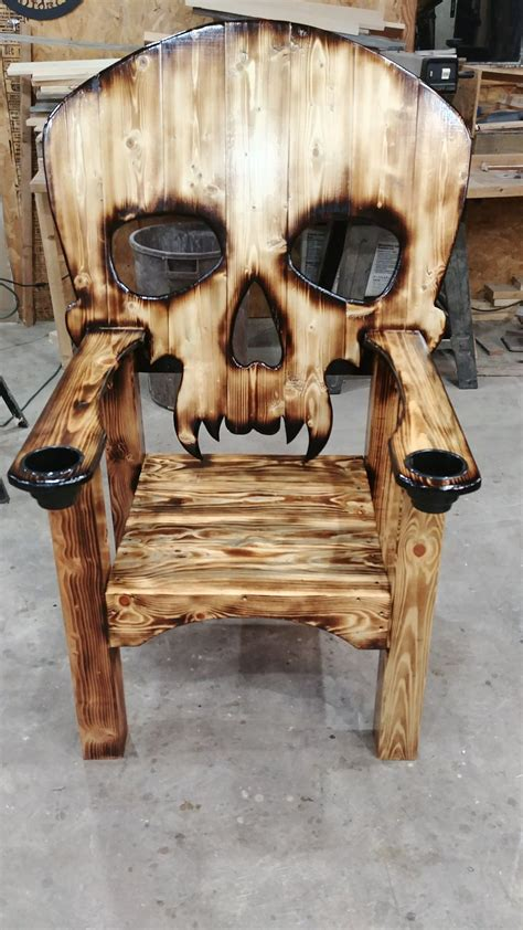 Wood Skull Chair Plans