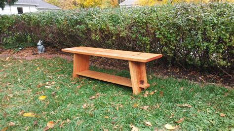 Wood Slab Bench Designs
