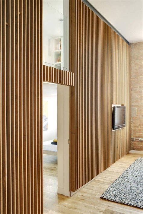 Wood Slat Wall Detail