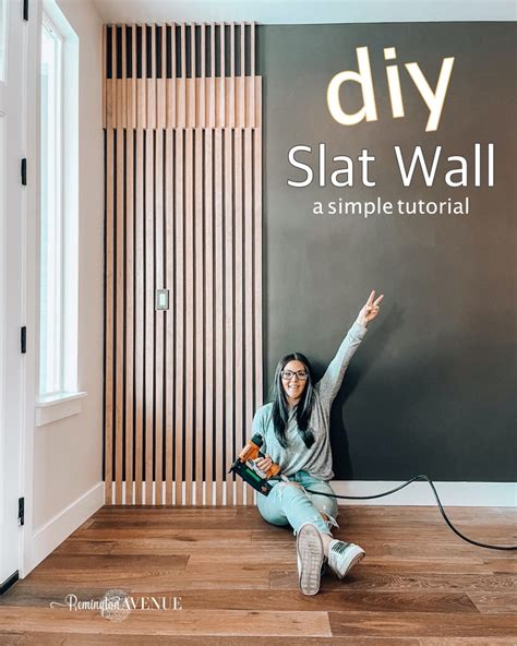 Wood Slat Wall Diy Projects