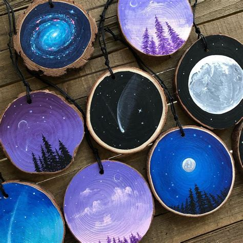Wood Slice Painting Diy Canvas