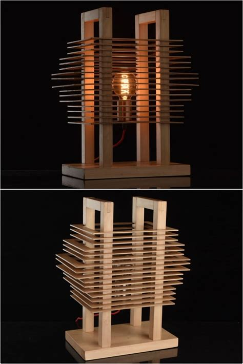 Wood Slice Table Lamps