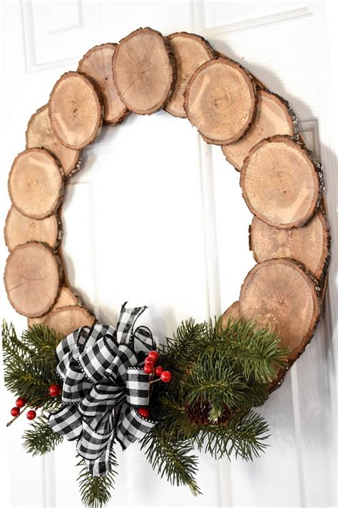 Wood Slice Wreath Diy