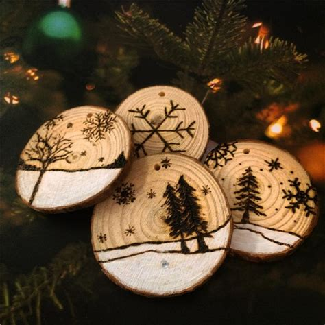 Wood Slices For Centerpieces Diy Christmas