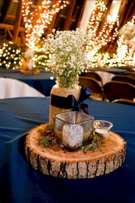 Wood Slices For Wedding Centerpieces Diy Royal Blue Gold