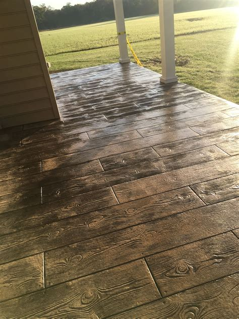 Wood Stamped Concrete Tile