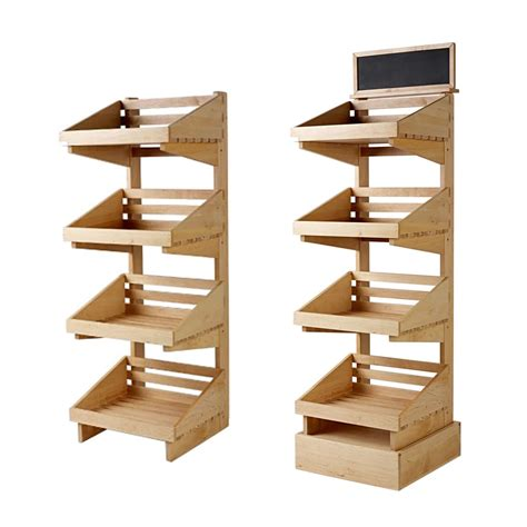 Wood Standing Display Rack