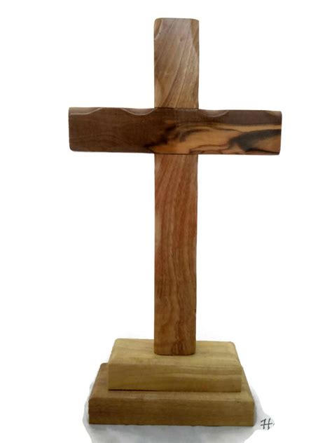 Wood Standing Table Cross