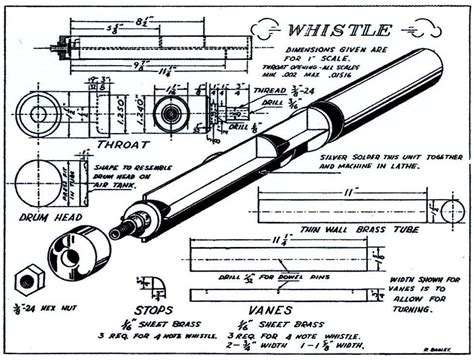 Wood Steam Train Whistle Plans