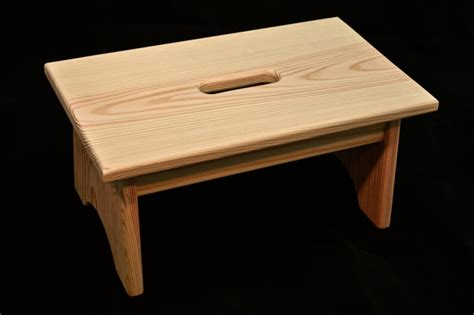Wood Step Stool With Handle Holes