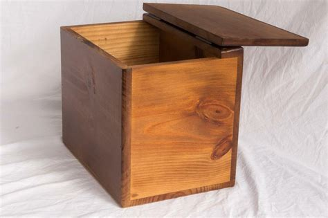 Wood Storage Box With Lid Plans