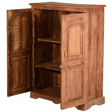 Wood Storage Cabinets Rustic