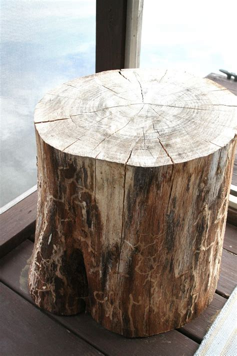 Wood Stump Side Table Diy