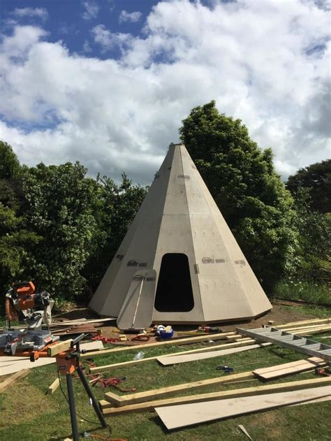 Wood Teepee House Plans