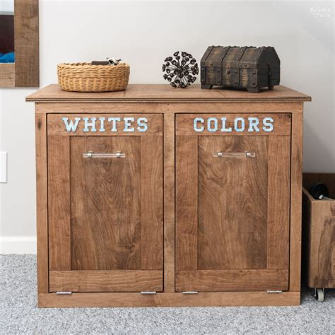Wood Tilt Out Hamper Plans