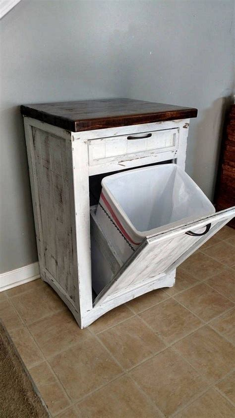 Wood Tilt Out Trash Can Cabinet Diy