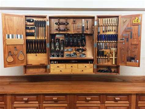 Wood Tool Cabinet Design