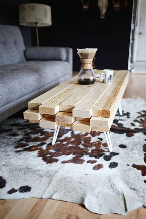 Wood Top Coffee Table DIY