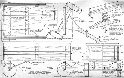 Wood Toy Wagon Plans