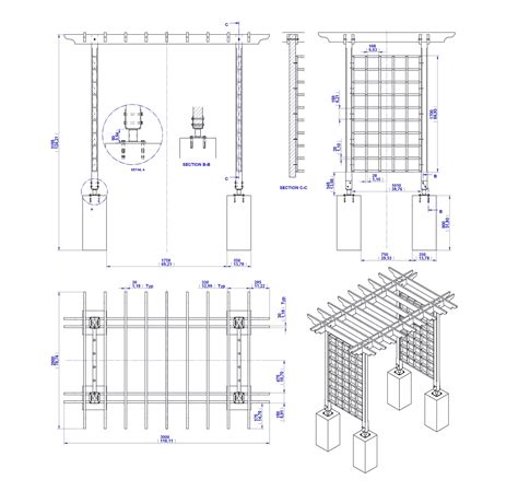 Wood Trellis Plans And Details