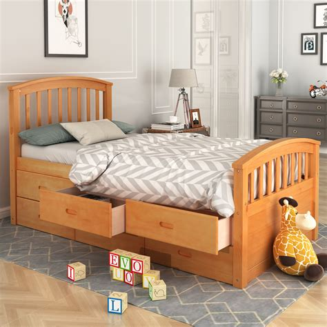 Wood Twin Bed Frame Size