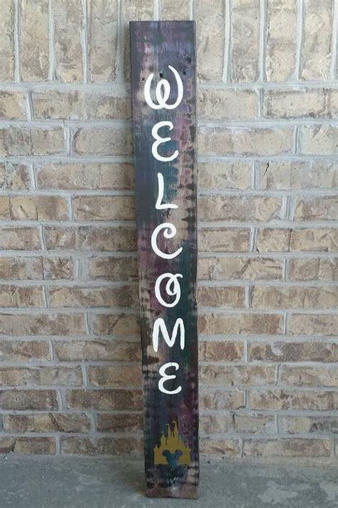 Wood Welcome Sign Diy Disney