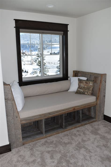 Wood Window Bench With Storage