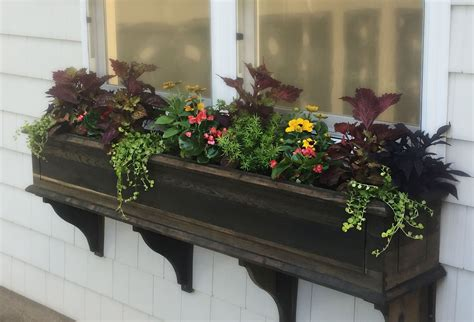 Wood Window Flower Box Designs