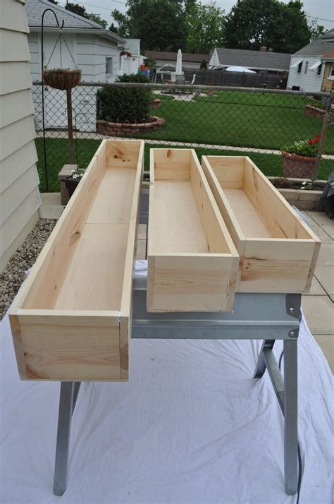 Wood Window Planter Box Plans