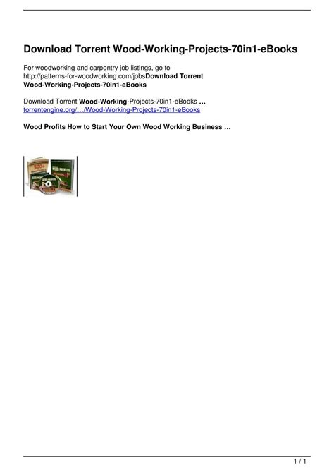Wood Working Projects 70in1 Kobo Ebooks