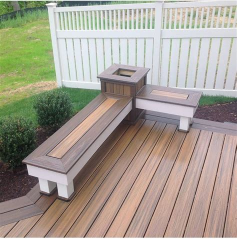 Wood bench designs for decks Image