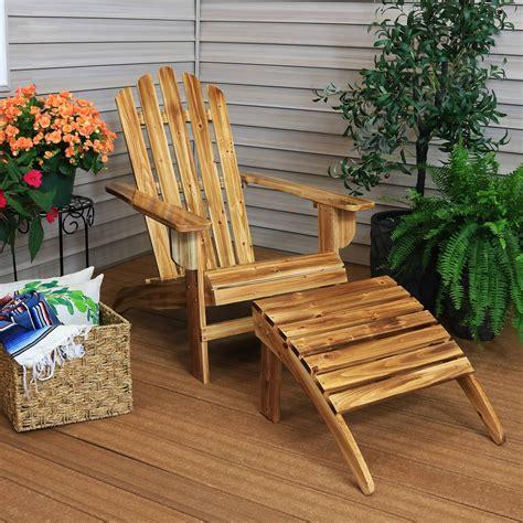 Wood-Adirondack-Chair-With-Ottoman