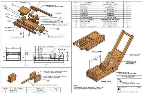 Wood-Aluminum-Can-Crusher-Plans