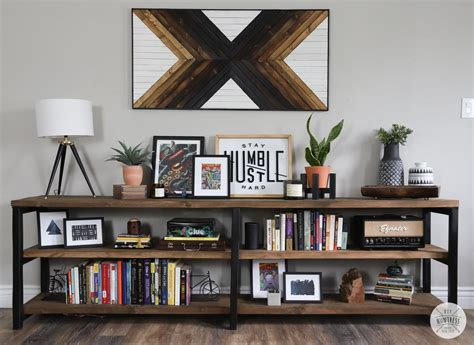 Wood-And-Metal-Bookshelf-Diy