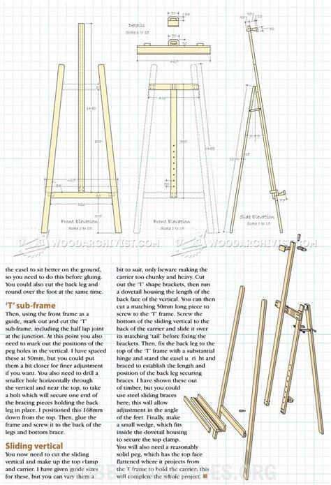 Wood-Art-Easel-Plans