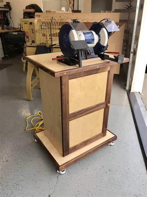 Wood-Bench-Grinder-Stand-Plans