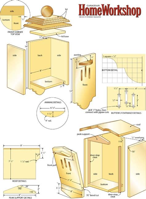 Wood-Butterfly-House-Plans