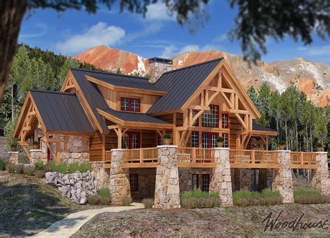 Wood-Cabin-Home-Plans