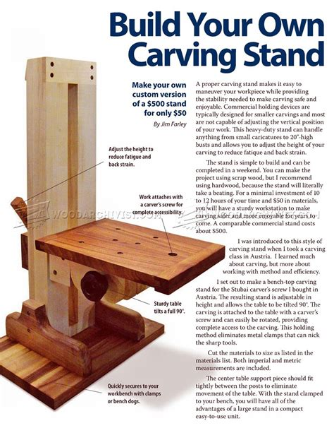 Wood-Carving-Stand-Plans