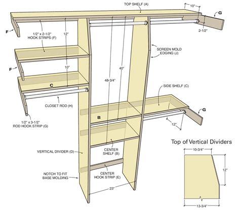 Wood-Closet-Organizer-Plans