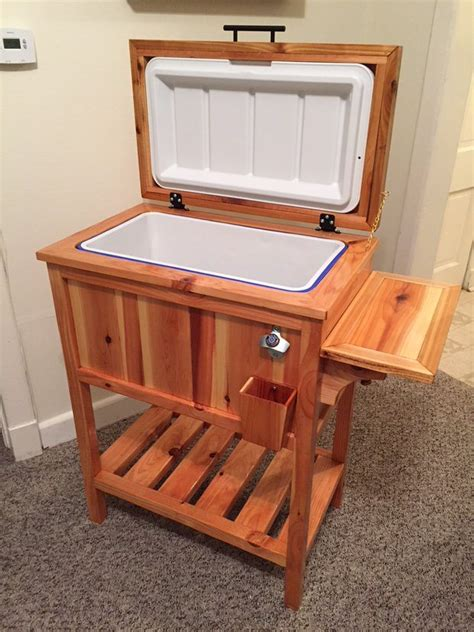Wood-Cooler-Stand-Plans
