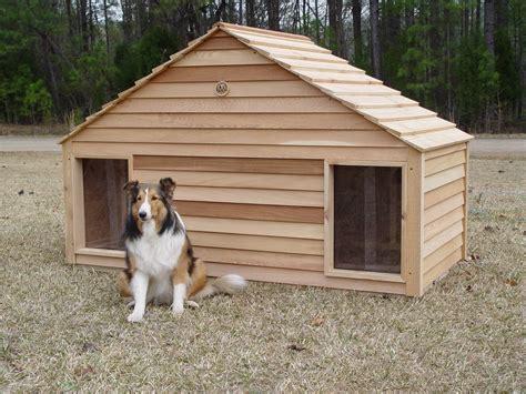Wood-Double-Dog-House-Plans