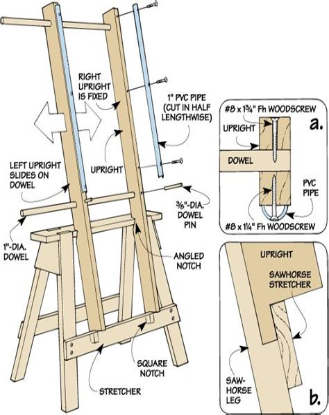 Wood-Easel-Plans