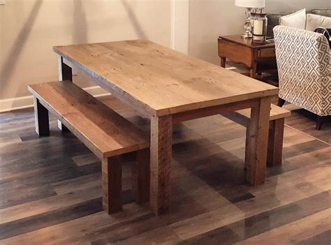 Wood-Farm-Table-Bench