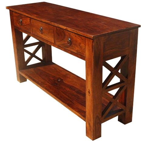 Wood-Farmhouse-Console-Table