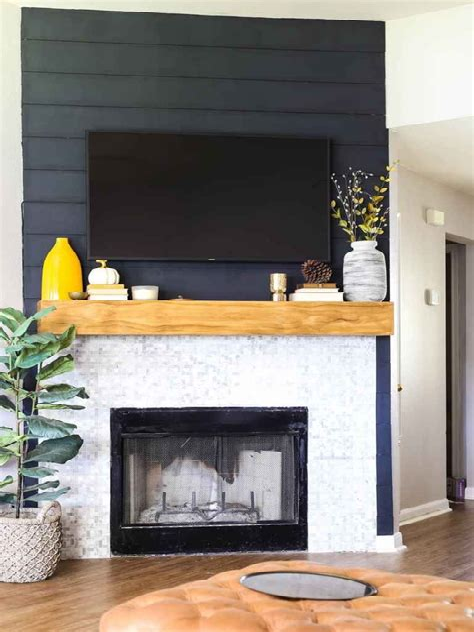 Wood-Fireplace-Surround-Diy