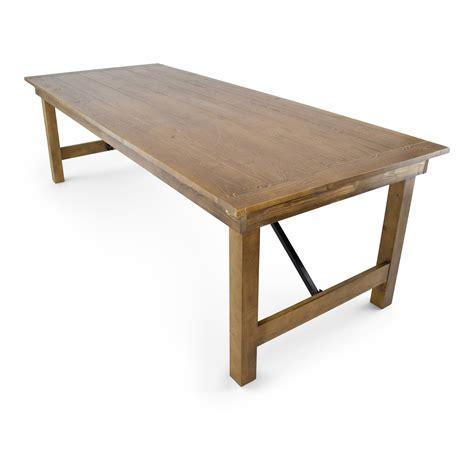 Wood-Folding-Farm-Table