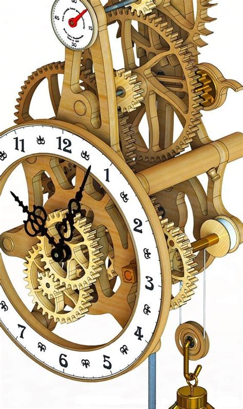 Wood-Gear-Clock-Woodworking-Plans