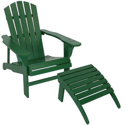 Wood-Green-Adirondack-Chair-With-Ottoman