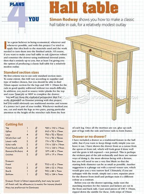 Wood-Hall-Table-Plans